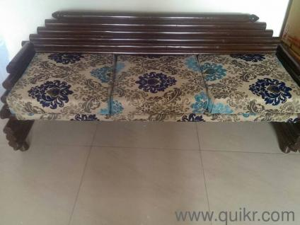 teak wood five seater sofa set in good condition - Gently Used