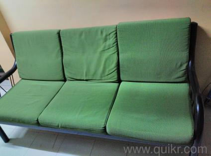 Black metal sofa + seats in good condition to sell - Gently Used