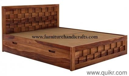 solid wooden furniture storage double bed Brand Home Office