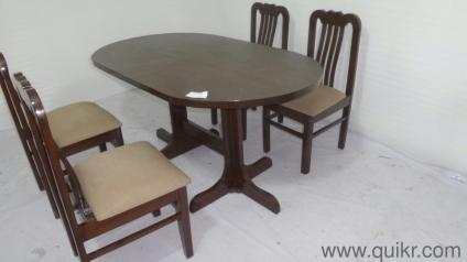 NAVRATRI SALE QUIKR CERTIFIED 4 Chair Wooden Dining Table For Sale