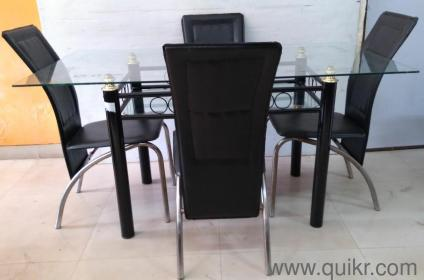 dining table quikr pune. **quikr certified excellent condition metal body glass top 4 seater dining table for sale**:)- - gently home office furniture mumbai   quikrgoods quikr pune
