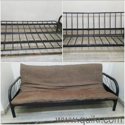 Wrought Iron Sofa Cum Bed queen size bed with matress 6 x 4 Gently