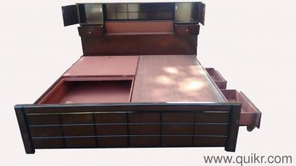 A Brand New Chocolate Bed With Storage King Size Head Free Delivery All Bangalore 9844five 0171five