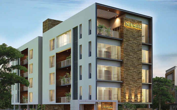 Saptami 3bhk apartments for sale in rapuram chennai for 4 apartment building plans
