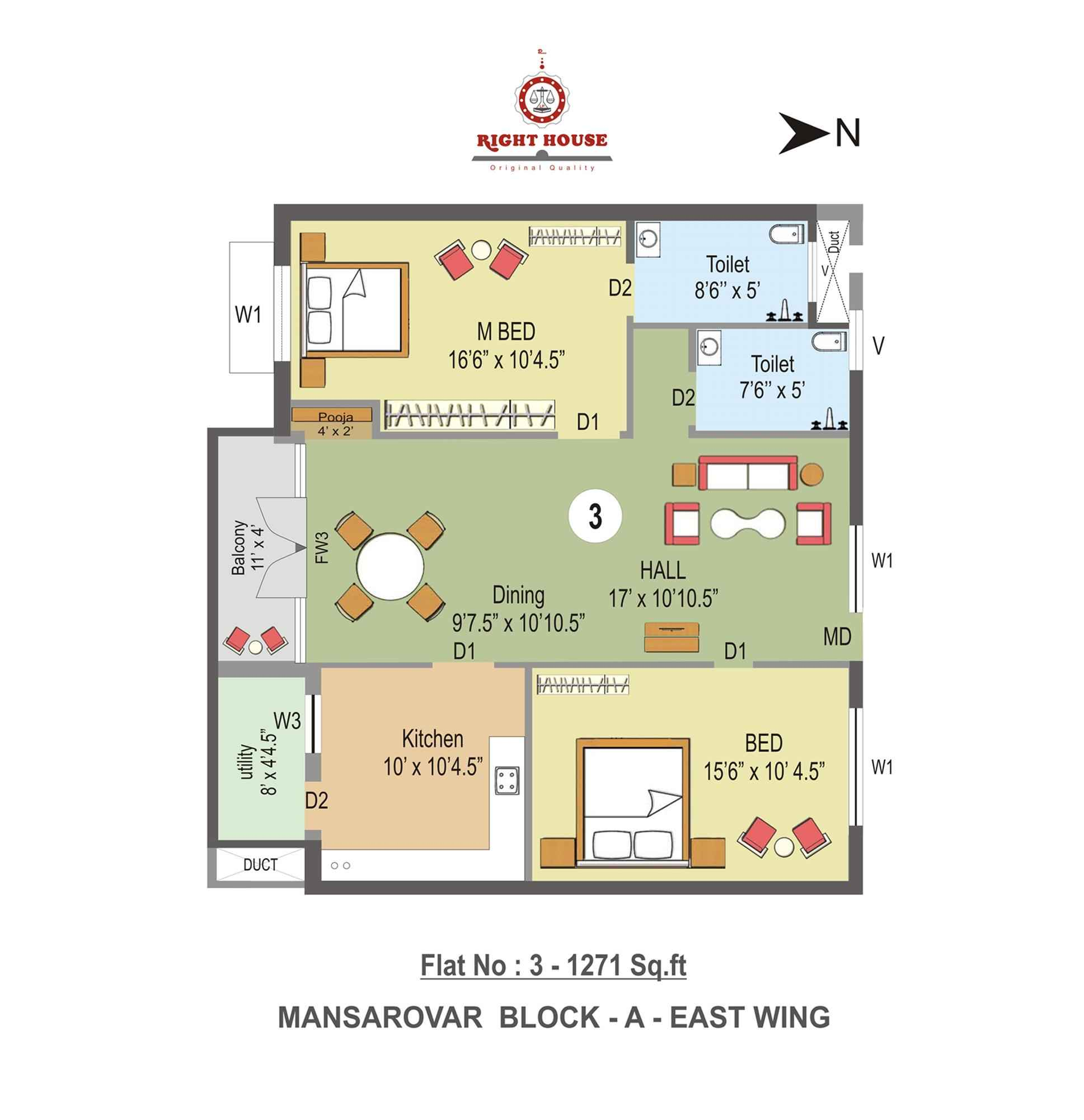 Right House Phase 1  in Vadavalli