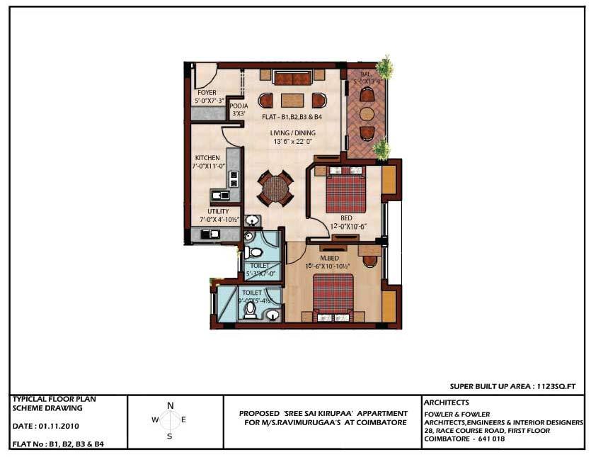 2 BHK Apartments for Sale at Sree Sai Kirupaa , Peelamedu