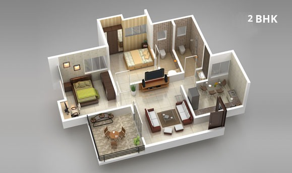 2 BHK Apartments for Sale at Aishwaryam Courtyard Phase 2, Chikhali