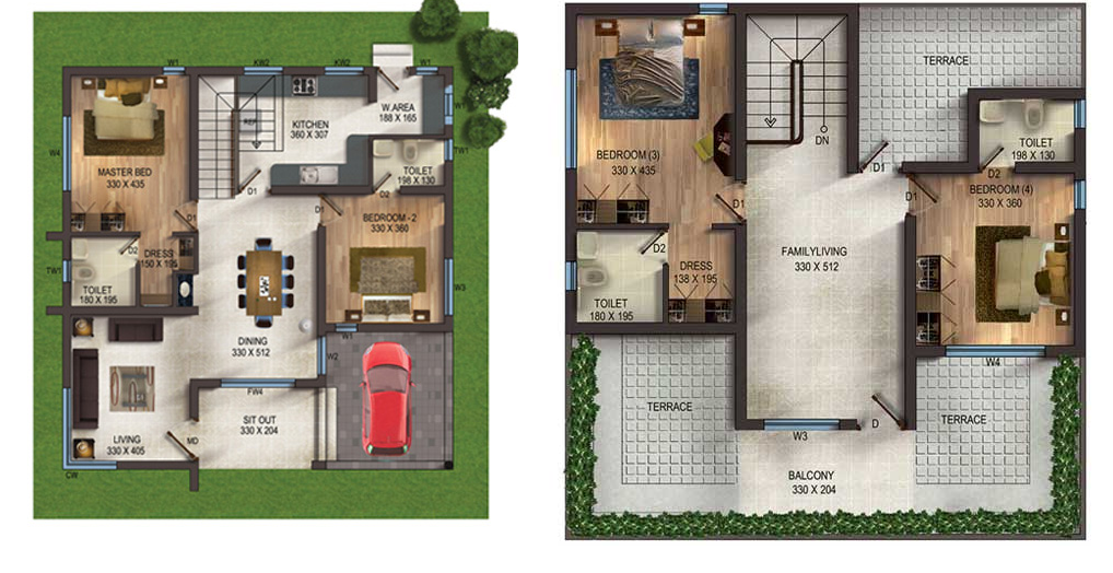 VC HILLS SMART Villas,Kakkanad