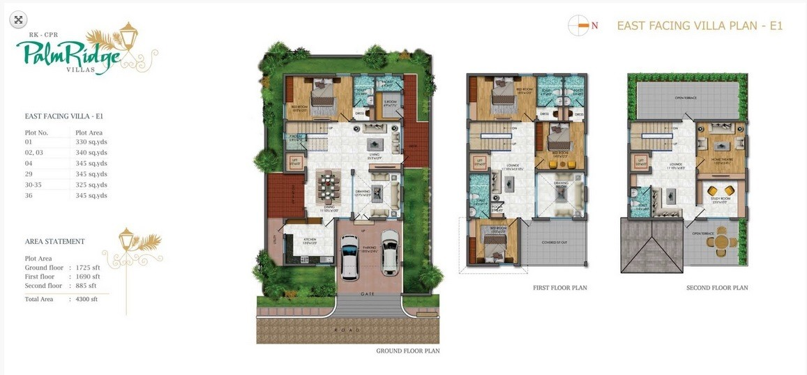 Cpr palm ridge kondapur by cpr constructions in hyderabad west for The villages gardenia floor plan