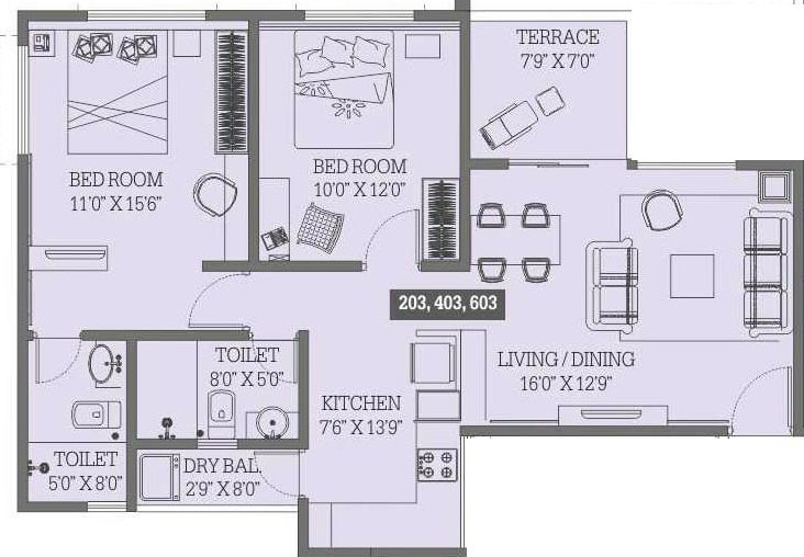 2 BHK Apartments for Sale at Panama Silver Stone, Undri