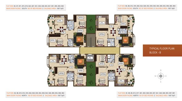 2 BHK Apartments for Sale at Monte Vue, Thudialur