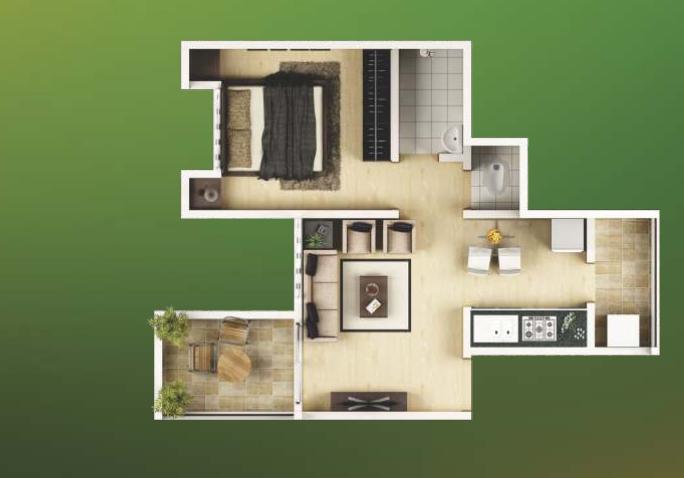 1 BHK Apartments for Sale at Calyx Vanalika, Pirangut