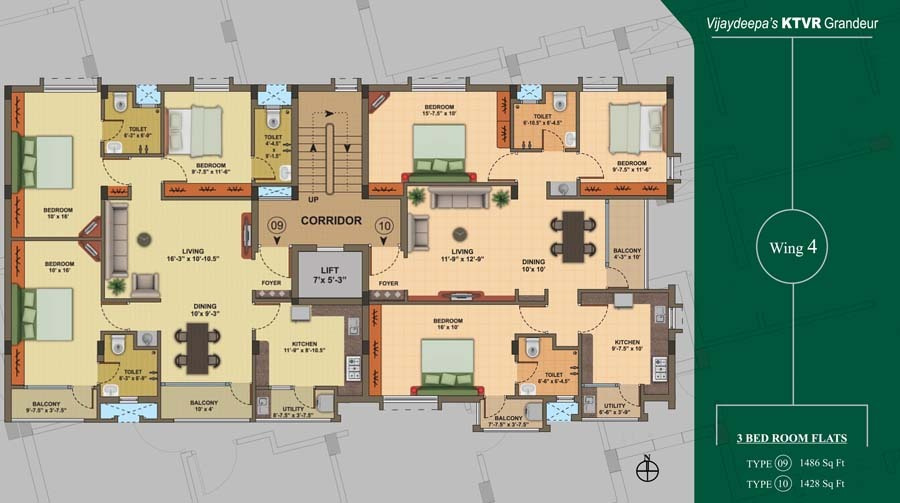 3 BHK Apartments for Sale at Grandeur , Velandi Palayam